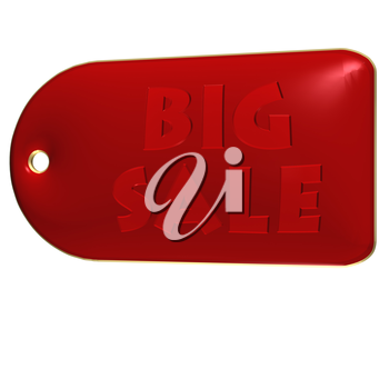 High Quality Big Sale product badge isolated on white.
