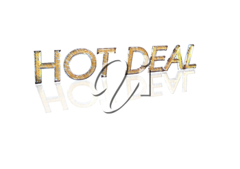 Word HOT DEAL made from many percentage symbols.