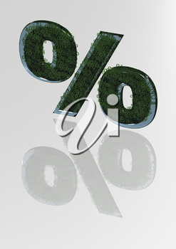 The big sign of percent consisting of a set of small signs of percent.
