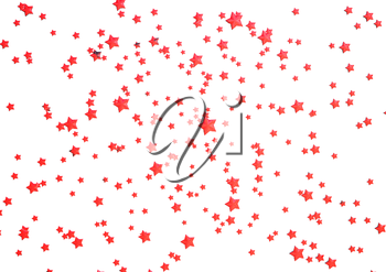 Abstract modern Holiday red background with stars.