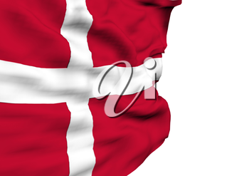 Image of a waving flag of Denmark