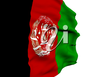 Image of a waving flag of Afghanistan