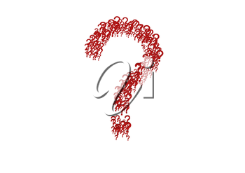 The question mark consisting of a set of small question marks