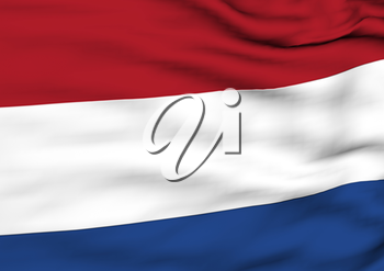 Image of a waving flag of Netherlands