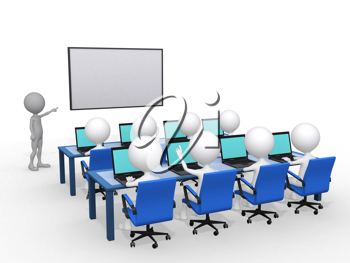 Royalty Free Clipart Image of Person Giving a Lecture