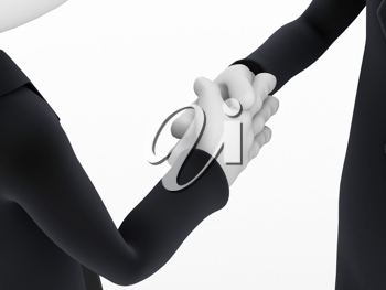 Royalty Free Clipart Image of a Close-Up of a Handshake