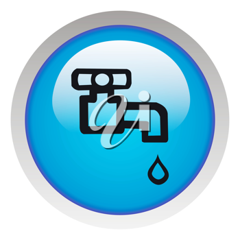 Royalty Free Clipart Image of a Water Tap icon