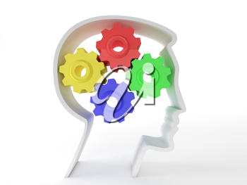 Royalty Free Clipart Image of Intelligence