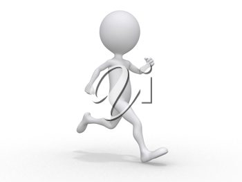 Royalty Free Clipart Image of a Person Running