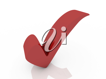 Perfect 3d checkmark isolated on white