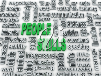Royalty Free Clipart Image of a Word Cloud on People Skills