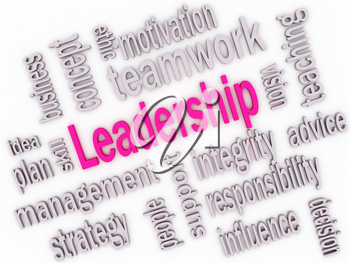 Royalty Free Clipart Image of a Leadership Word Collage