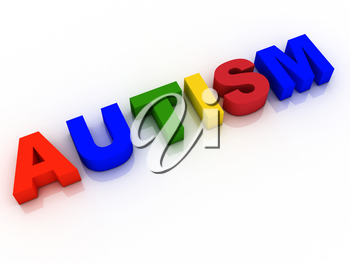 Autism Word Background Hope Research