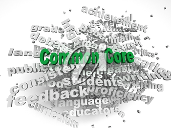 3d imagen Common Core  issues concept word cloud background