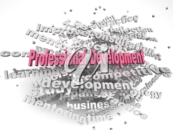3d image professional development  issues concept word cloud background