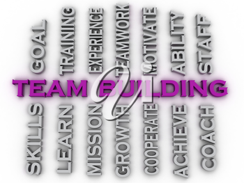 3d image team building  issues concept word cloud background