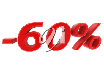 3d image 60 percent off digits