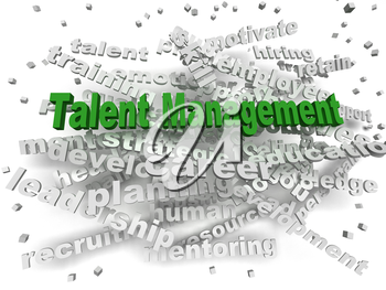 3d image Talent management word cloud concept