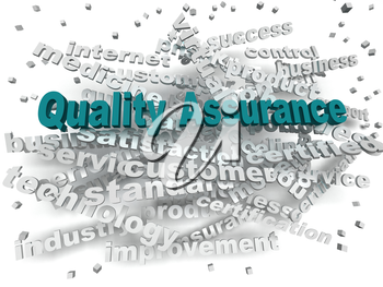 3d image Quality Assurance word cloud concept