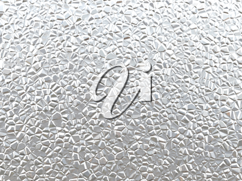 3D Illustration of Silver Crumpled Metal Texture