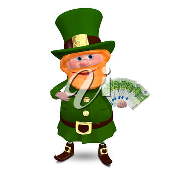 3D Illustration of a Saint Patrick with Euro Veer