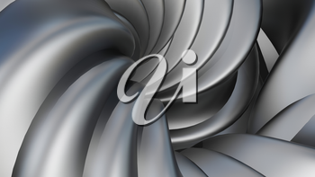3D Illustration Abstract Figure on a Grey Background