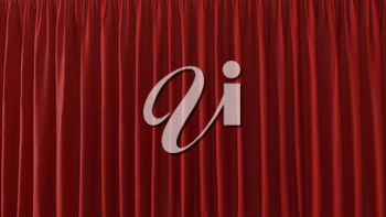 3d Abstract Background of the Red Curtain