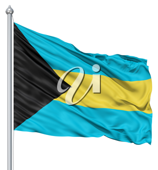 Royalty Free Clipart Image of the Flag of the Bahamas