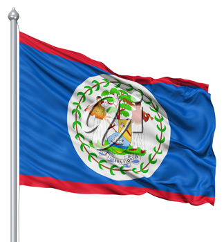 Royalty Free Clipart Image of the Flag of Belize
