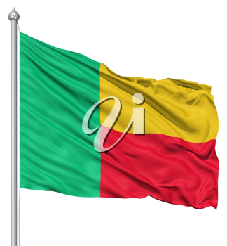 Royalty Free Clipart Image of the Flag of Benin