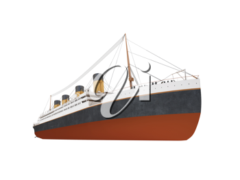Royalty Free Clipart Image of a Liner Ship