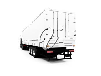 Royalty Free Clipart Image of a Transport Truck