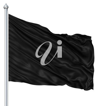 Royalty Free Clipart Image of a Black Flag