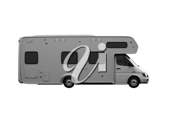 Royalty Free Clipart Image of a Camper