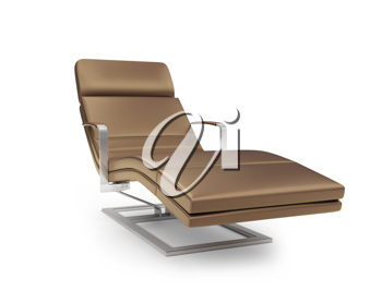 Royalty Free Clipart Image of a Chaise Lounge