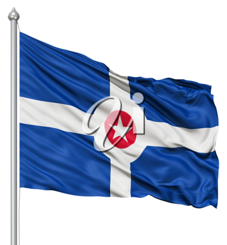 Royalty Free Clipart Image of the Indianapolis City Flag