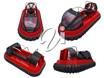 Royalty Free Clipart Image of a Bunch of Boats
