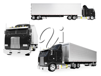 Royalty Free Clipart Image of Transport Truck