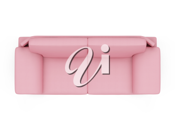 Royalty Free Clipart Image of a Pink Couch