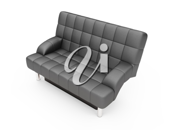 Royalty Free Clipart Image of a Black Couch