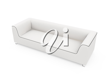 Royalty Free Clipart Image of a Couch