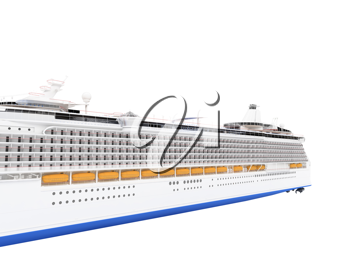 Royalty Free Clipart Image of a Cruise Ship