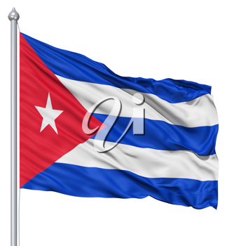 Royalty Free Clipart Image of the Flag of Cuba