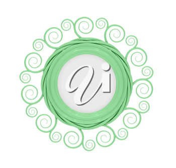 Royalty Free Clipart Image of a Green Frame