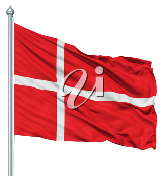 Royalty Free Clipart Image of the Flag of Denmark