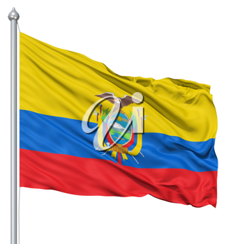Royalty Free Clipart Image of the Flag of Ecuador