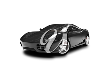 Royalty Free Clipart Image of a Ferrari