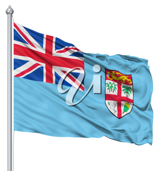 Royalty Free Clipart Image of the Flag of Fiji