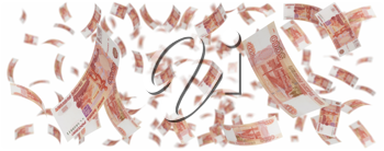 Royalty Free Clipart Image of a Bunch of Money