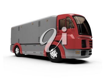 Royalty Free Clipart Image of a Cargo Truck